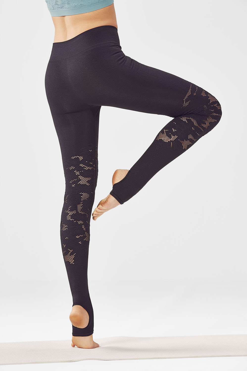 Fabletics Tight Seamless Statement Legging Womens Black Size L