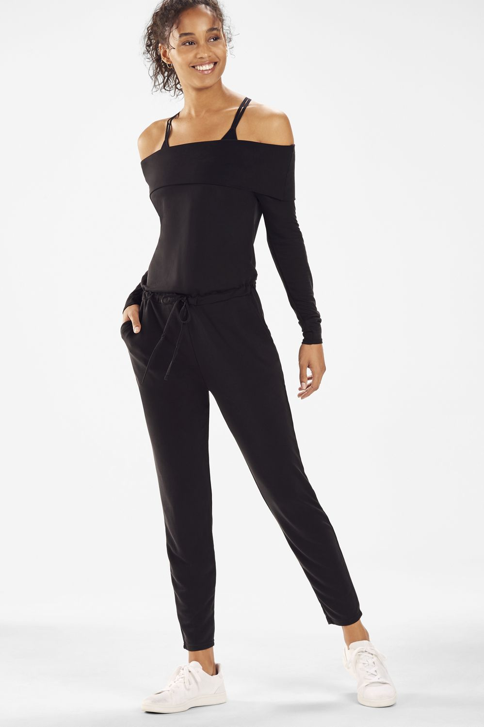 7e186c4581 Tess Off-Shoulder Jumpsuit - Fabletics