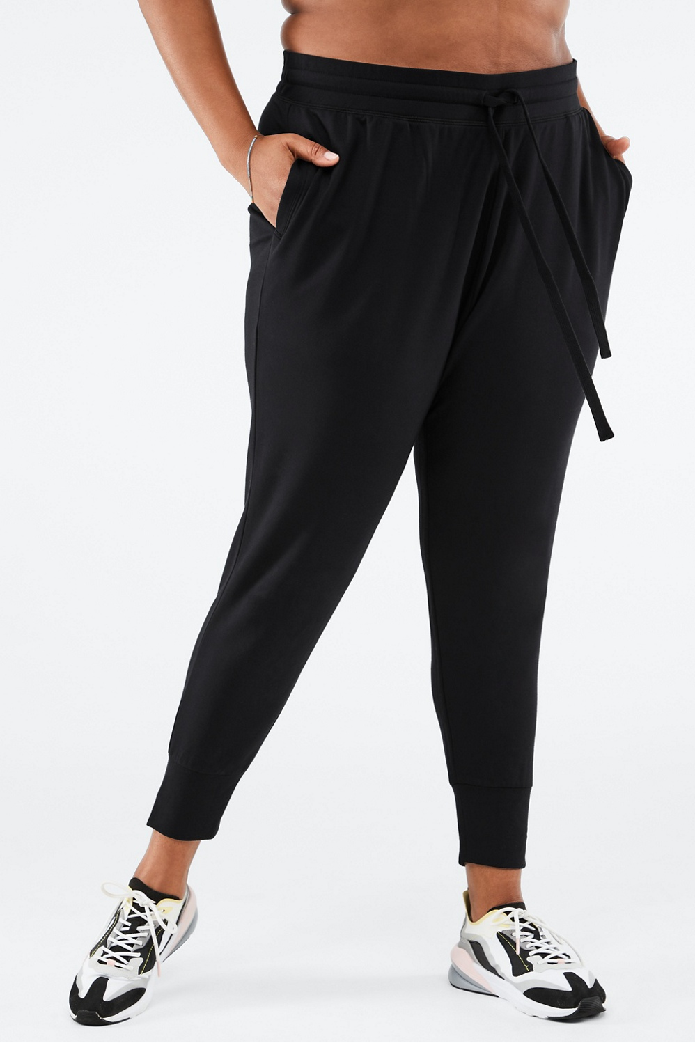 When you\\\'re in the mood to just kick back, snuggle up to this pair of joggers made from our insanely soft tech terry fabric. Tapered ankles and a drawstring waist give you a flattering shape.