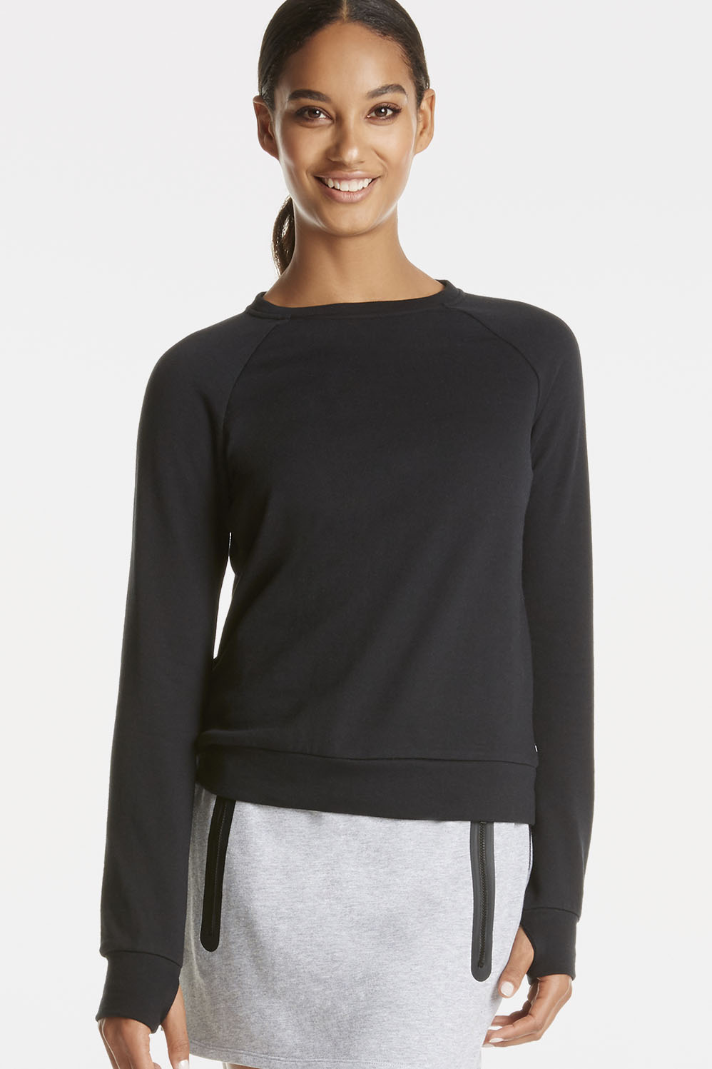 Fabletics T Shirt Ginger Pullover Womens Black Size XS