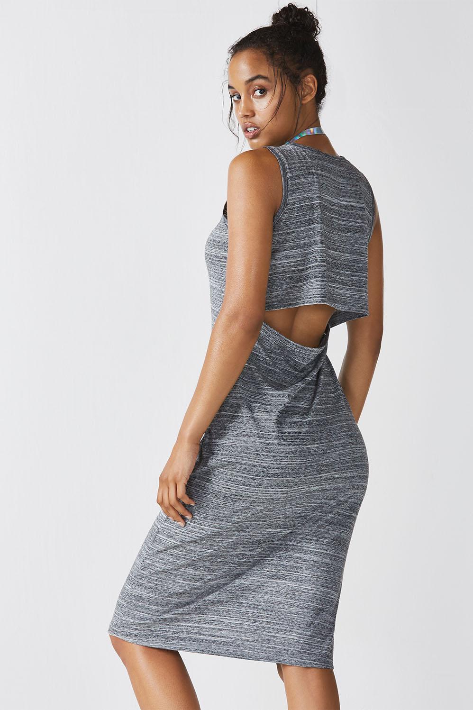 14df465604 Eileen Midi Dress - Charcoal Space Dye