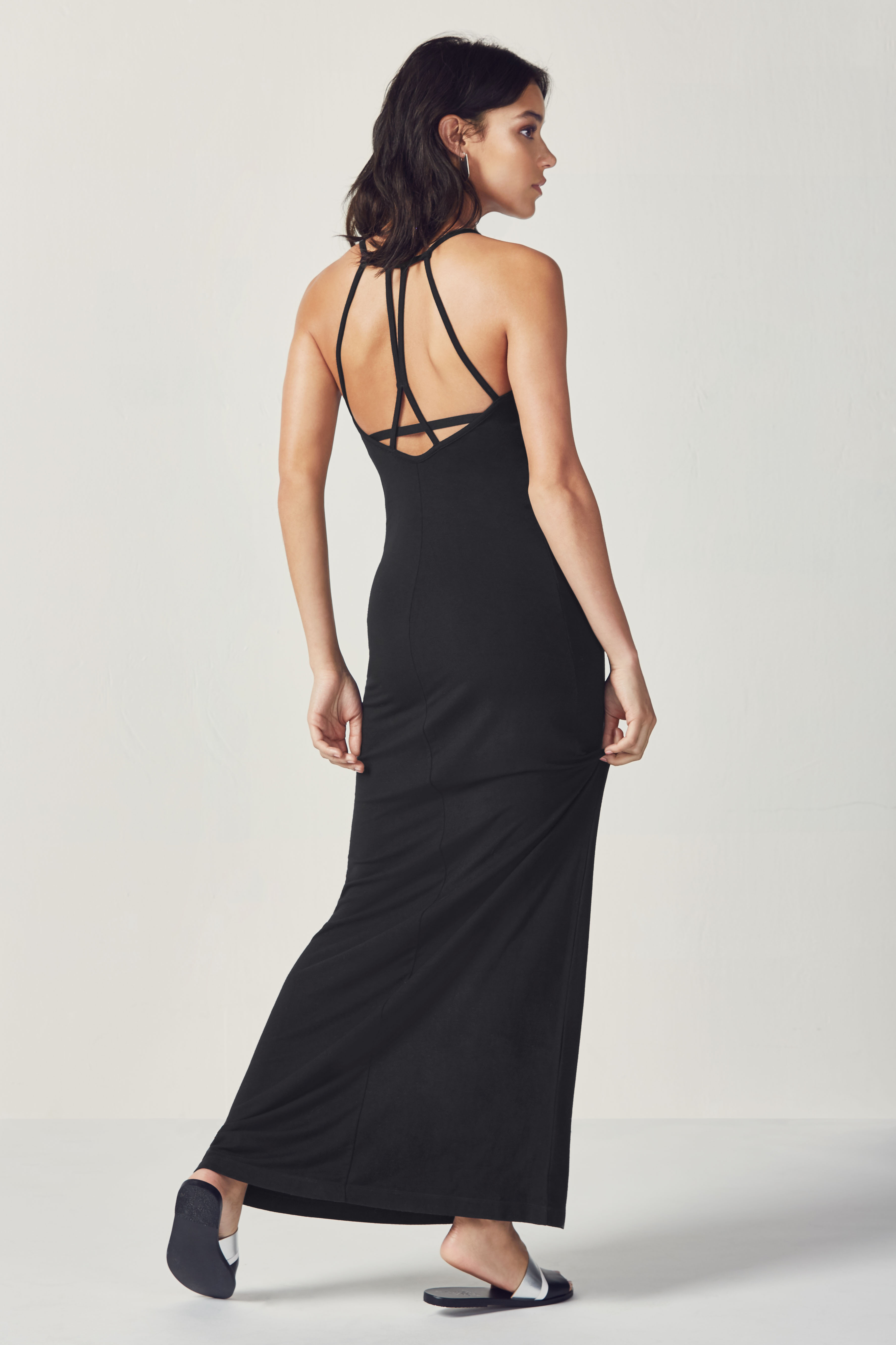 Fabletics Evelyn Maxi Dress Womens Black Size XL