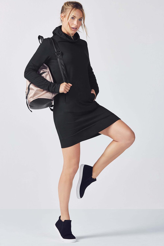 Fabletics T Shirt Liora Dress Womens Black Size S