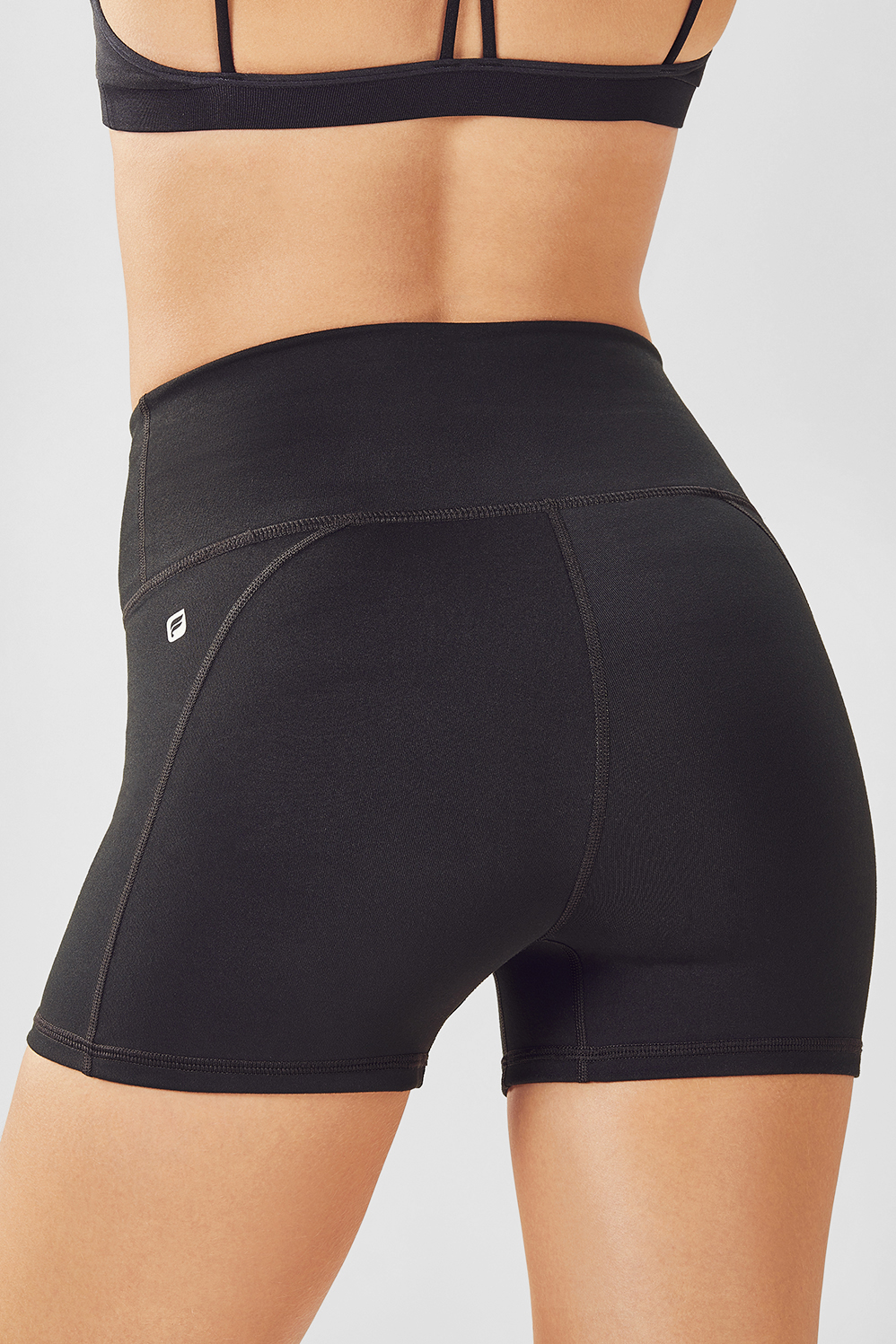 Fabletics Shorts High-Waisted Solid Powerhold Womens Black Size XXS