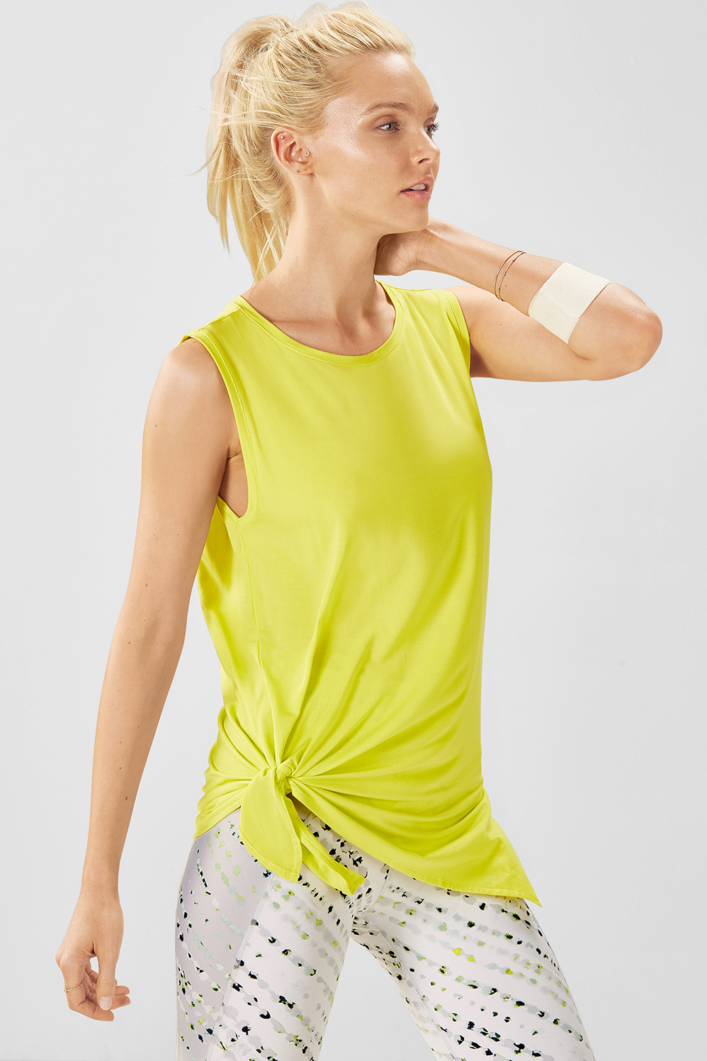 Fabletics Martha S/L Tunic Womens Green Size M