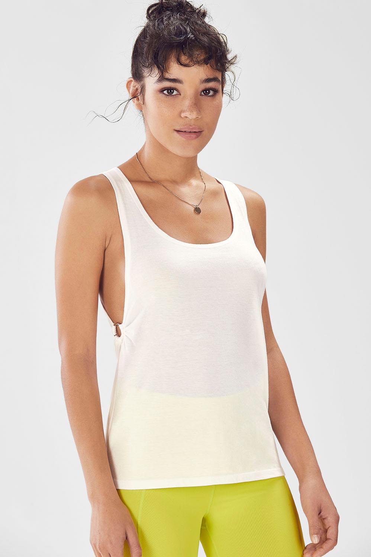 Fabletics Madison Tank Top Womens White Size XXL