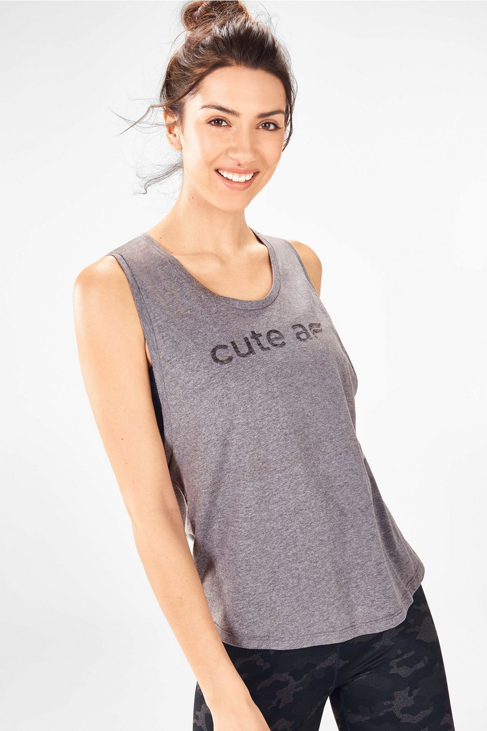df0ad0267 Janis Graphic Muscle Tank - grey heather/cute af